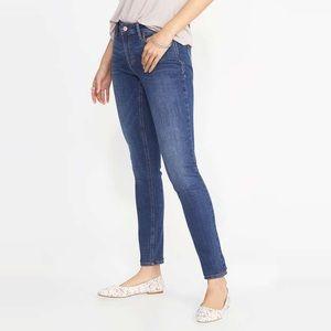 Old Navy Blue Mid-Rise Rockstar Skinny Jeans